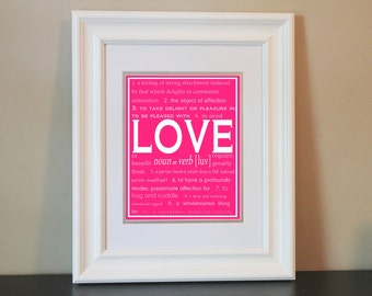 Children/Nursery/Home Art- LOVE- Printable or Shipped