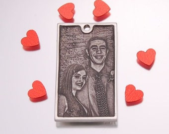 Love - Personalized Photo Engraved Dog Tag