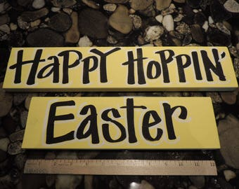 Hand Lettered Happy Easter Signs for Wreaths, Posts