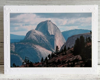 Yosemite Half Dome Photo Greeting Card - Famous View from Olmstead Point - California Landmark - Nature Photo Card - Fine Art Photography