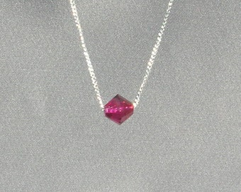 July Birthstone-Ruby Necklace