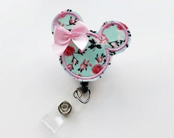 Name Badge, Name Badge Holder, Badge Clip, Badge Reel, Nurse Badge Reel, Nursing Badge Reel, Nurse Gift, Pediatric Nurse Gift, Minnie Mouse