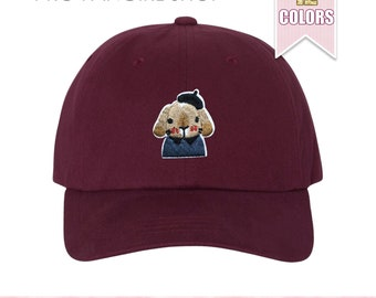 Artist Bunny Dad Hat, Tumblr Aesthetic Clothing Baseball Hat Embroidered Patch Black Dad Hats Unisex Baseball Caps Teen Girl Gift Ideas