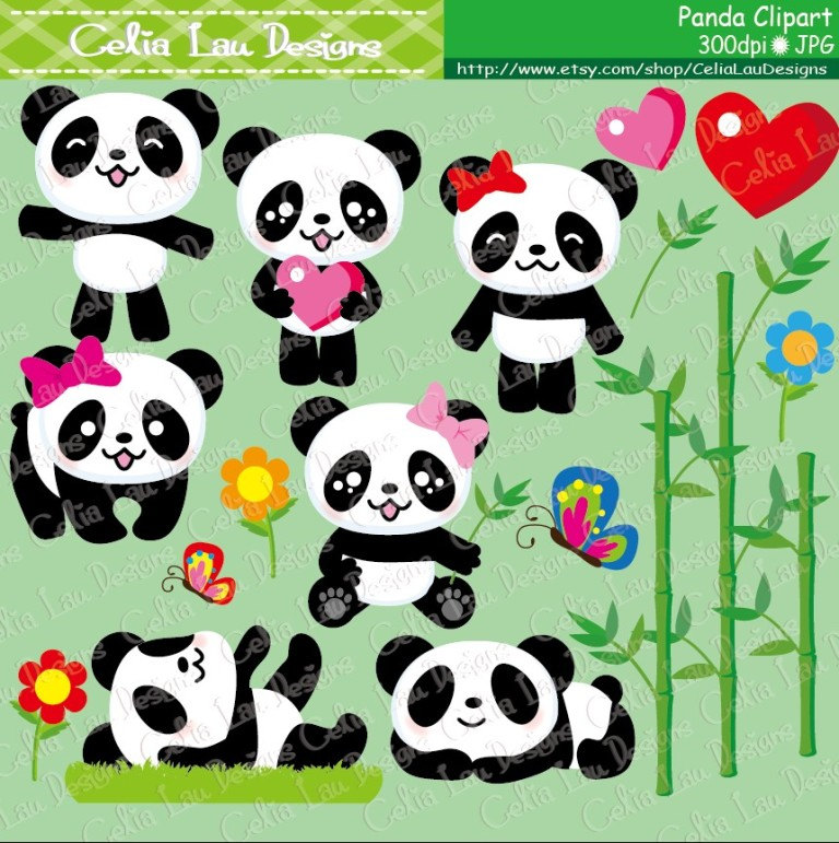 Panda clipartcute panda clipart baby panda clip art and zoom voltagebd Choice Image