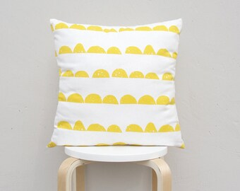 Half Moon pillow cover , Geometric Pillow Case, Kids Pillows Case,Yellow Pillow Case 01