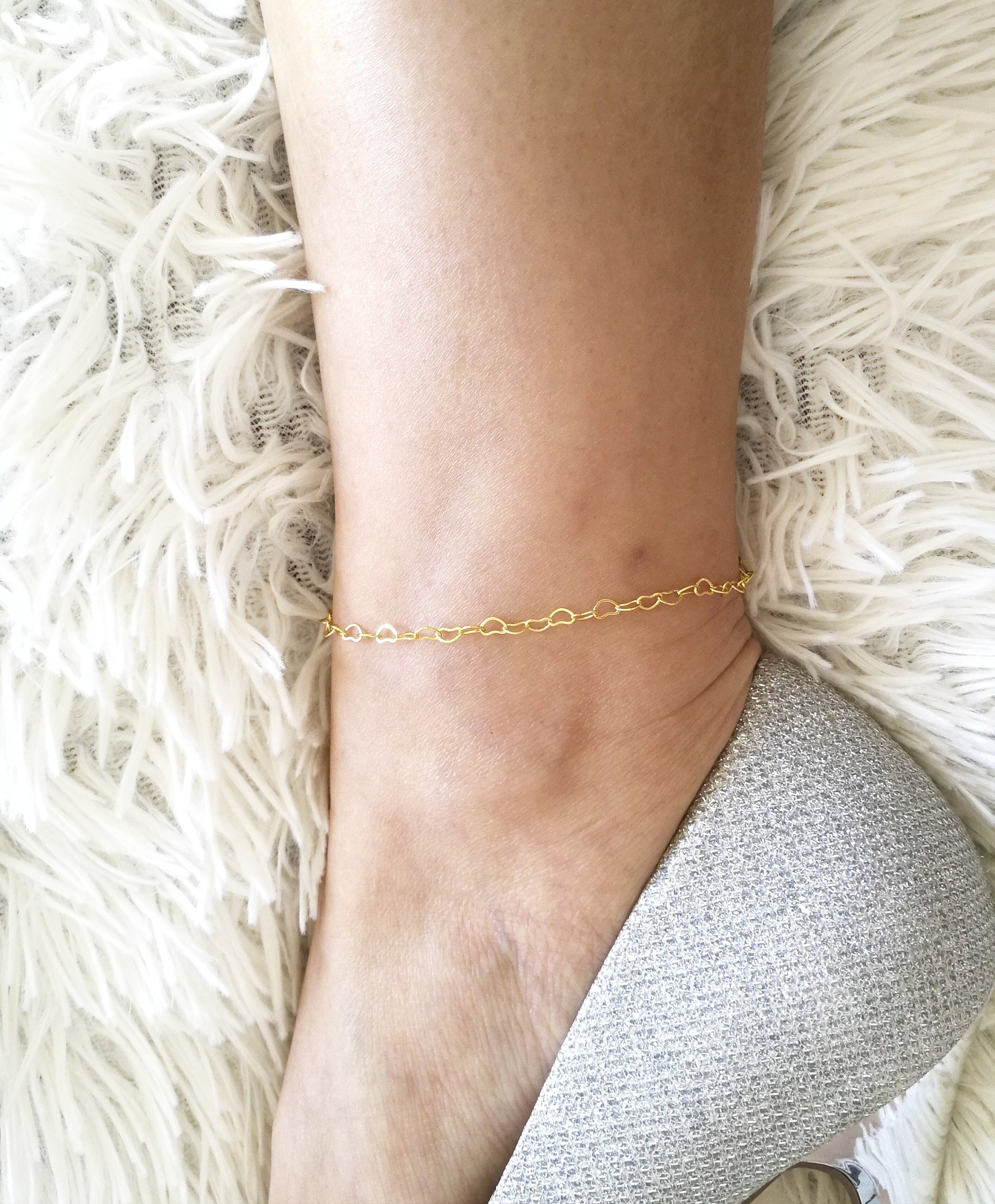 beaded eye evil anklet solid r rose chain gold