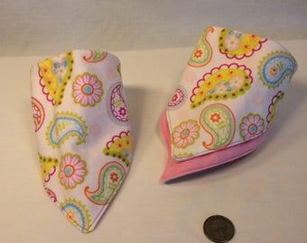 Colorful Bandana Bib for baby or doll or dog~reversible~multiple sizes