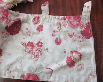 cotton WAVERLY Garden Room valance -curtain, floral, red