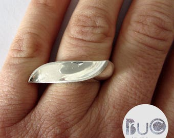 Geometric silver ring minimal by brucojewels