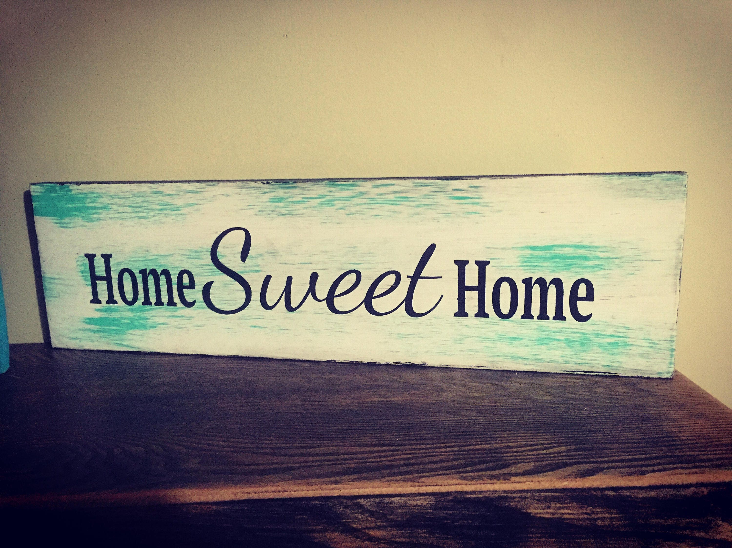 HOME SWEET HOME wood sign 5.5x 19 wood sign porch home decor house ...