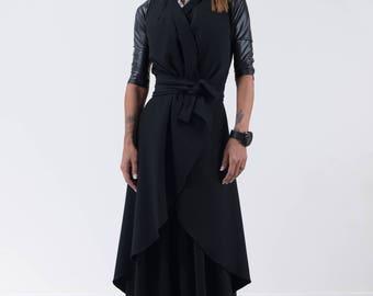 Women's Vest, Trench Coat, Coat Women, Maxi Coat, Long Coat, Black Coat, Winter Jacket, Cardigan Femme, Black Cardigan