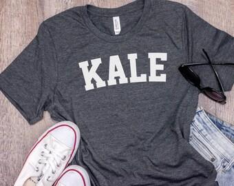 KALE, Vegan Shirt, Kale Shirt, Vegan TShirt, Vegan T Shirt, Vegan Gift, Shirt for Vegans, Vegetarian Shirt, Vegan, Bella Canvas - Item 2742