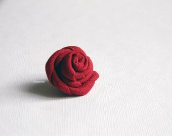 Wine red lapel pin - Men lapel flower - Made in Italy - Burgundy buttonhole - Fabric boutonniere - Burgundy red wedding - Cufflinks set