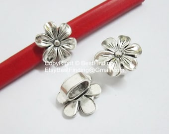 5pcs Hexagonal Flower Licorice Findings 10x6mm Licorice Leather Cord -LF72