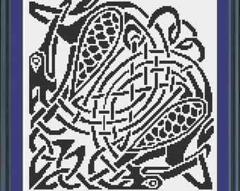 Heron Celtic Cross Stitch Pattern