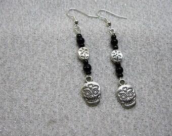 Dia de los Muertos Day of the Dead Dangle Earrings