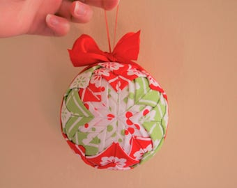 Kooky Christmas Quilted Ornament