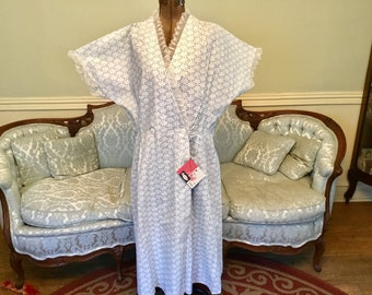 1950s Robe / 1950s Dressing Gown / Vintage Robe / Vintage Cotton Dressing Gown