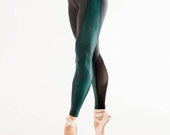Mountain Lion - workout tights with mesh