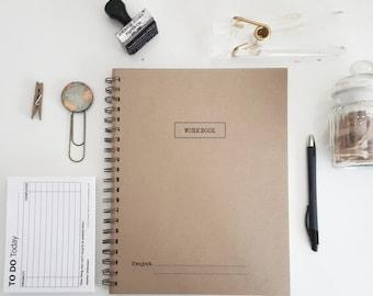 The Workbook Spiral Notebook-Journal-Journal Handmade Recycled Notebook Kraft