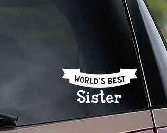 World's Best Sister & Brother Vinyl Car Decal - Customize to any name! Car Window Decal - Laptop Decal - Bumper Sticker