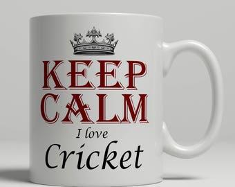 Cricket coffee mug, KEEP CALM, cricket gift idea, cricket mug, cricket fan mug, coffee mug cricket, cricketer mug, mug cricket Keep cricket