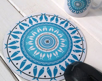 Mouse Pad Concentric Fish