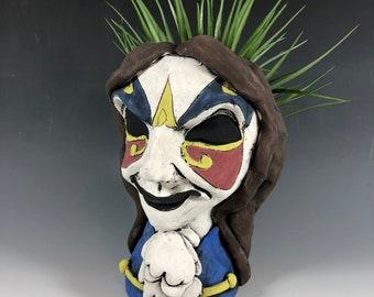 Clockwork Droid // Succulent Pot // Planter // Small Sculpture // Dr. Who // Monster // Mask // Pottery // Home Decor // Doctor
