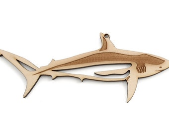Great White Shark Ornament - Made in the USA with sustainably harvested wood! - Timber Green Woods.