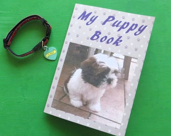 My Puppy Book record keepsake book - printable and add your own photos for your new dog