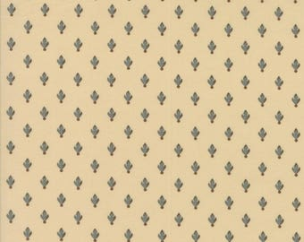 Moda Collections Preservation Quilt Fabric 1/2 Yard By Howard Marcus - Muslin/Aqua 46237 12