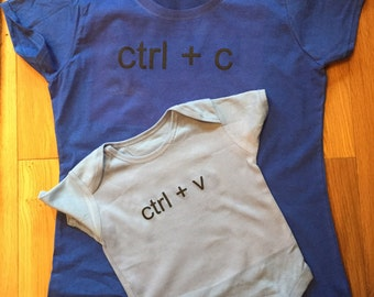 Geek parent and baby outfit geek babygrow