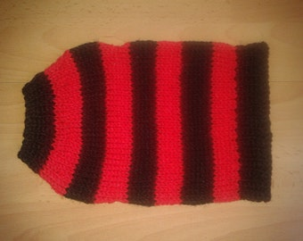 """Small Dog sweater  jumpers/Coats 10"""" length Chihuahua/Puppy Yorkie Dennis The Menace warm and cozy."""