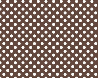 Riley Blake Designs, Small Dots in Brown (C350 90)