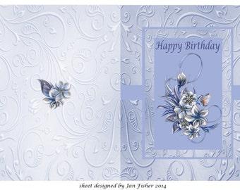 Birthday card winter flowers