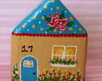 Hand Painted Love Boxes Number 17 Yellow House