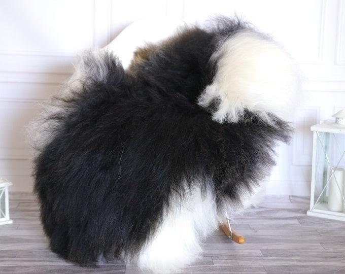 Icelandic Sheepskin | Real Sheepskin Rug |  Super Large Sheepskin Rug White Black | Fur Rug | Homedecor #KOWISL26