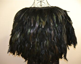 Black feather cape feather jacket rooster feather cape 5 ply Carnival feather shoulder shrug Shawl