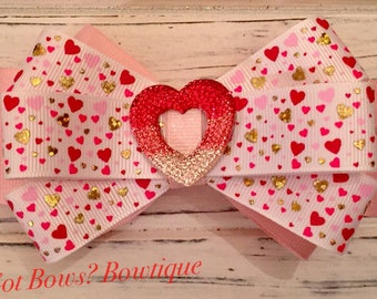 Lots of Love Hair Clip Bow