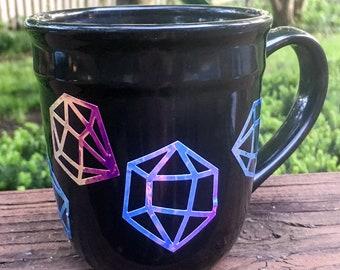 Iridescent diamond coffee mug