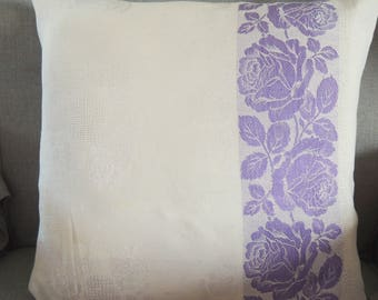High-quality antique damask pillow cover