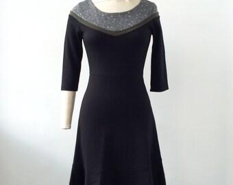 Women dress - Jersey dress  - 3/4 sleeves dress  - Knee dress - Knit - Patterns - Binding - Lucie Mountains -20%