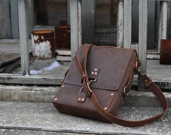 Leather Satchel, Leather Messenger Bag, Messenger Bag Men, Leather Laptop Bag, Laptop Bag Men, The Ryker