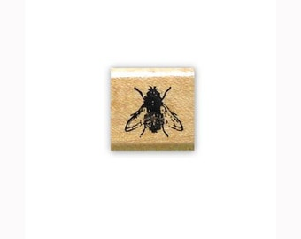 FLY Mounted bug rubber stamp, insect, Sweet Grass Stamps #15