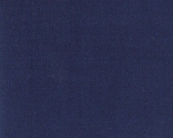 Bella Solids Nautical Blue designed by Moda Fabrics, 100% Premium Cotton by the Yard