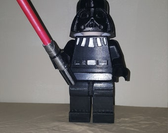 Giant Lego Darth Vader with removable Helmet