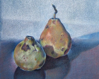 Two pears (an original drawing)