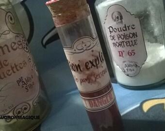 Harry Potter flask - Explosive Potion.
