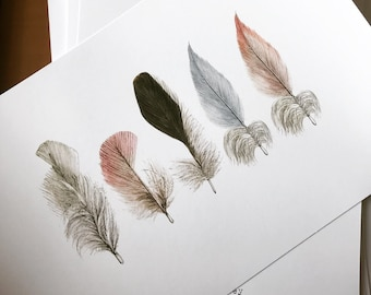 Fancy Feather, vintage image Wall art