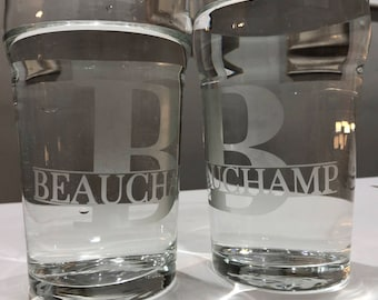 Personalized Pint Glasses (set of 2)